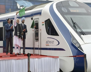India's fastest train Vande Bharat achieves 130 kmph speed during inaugural run