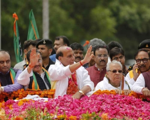 India will be poverty free only after Congress ouster: Rajnath