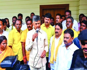 Police lock Chandrababu at home to prevent march