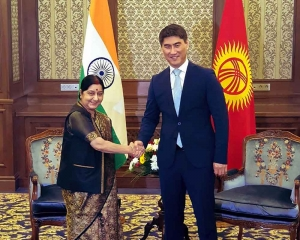 Swaraj discusses ways to boost ties with Kyrgyz President