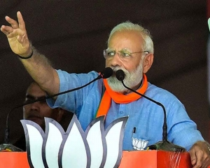 Terrorism contained to two and half districts in J&K: Modi