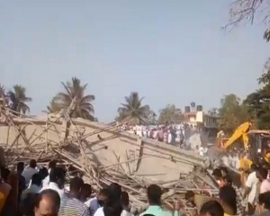 Two killed, many trapped in under construction building Collapse at Dharwad