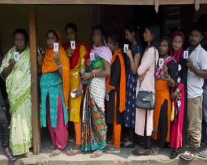 UP records over 35 pc voter turnout till 1 pm in third phase of LS