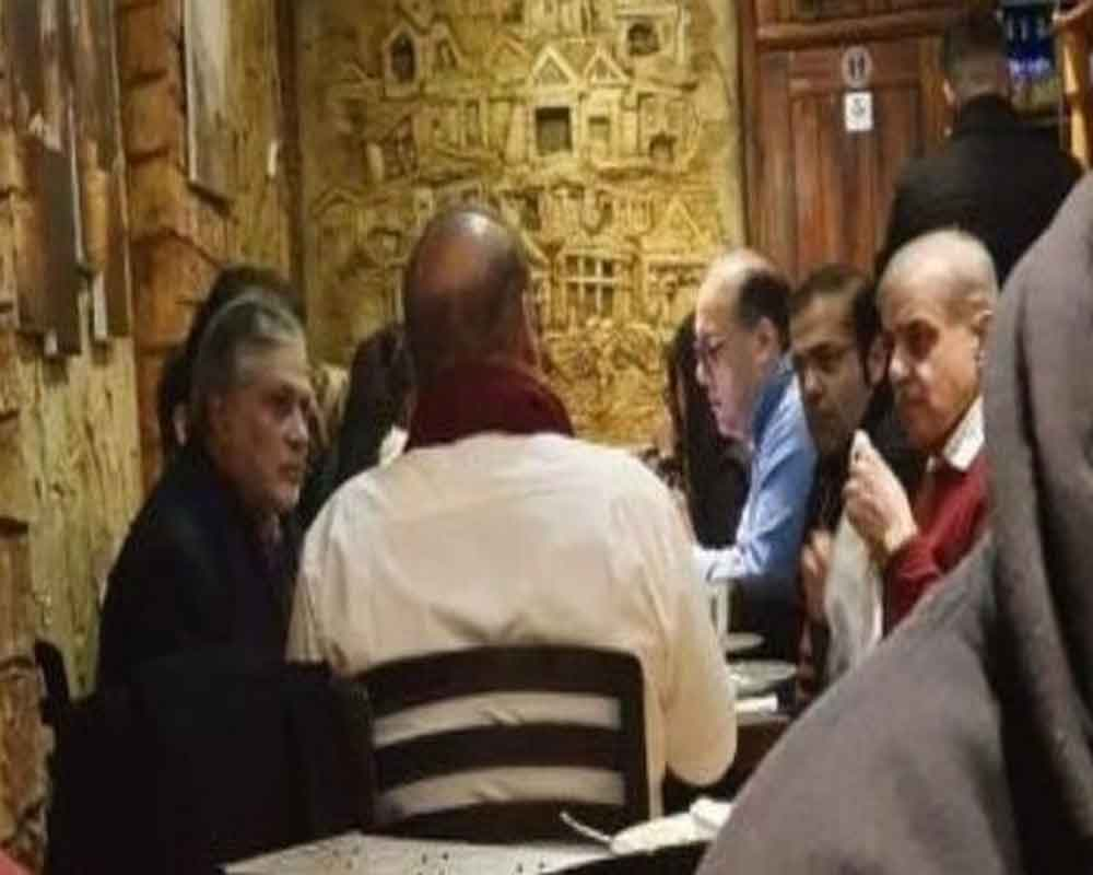 Ex-Pak PM Sharif's UK restaurant pic goes viral; Opposition raises questions over his illness