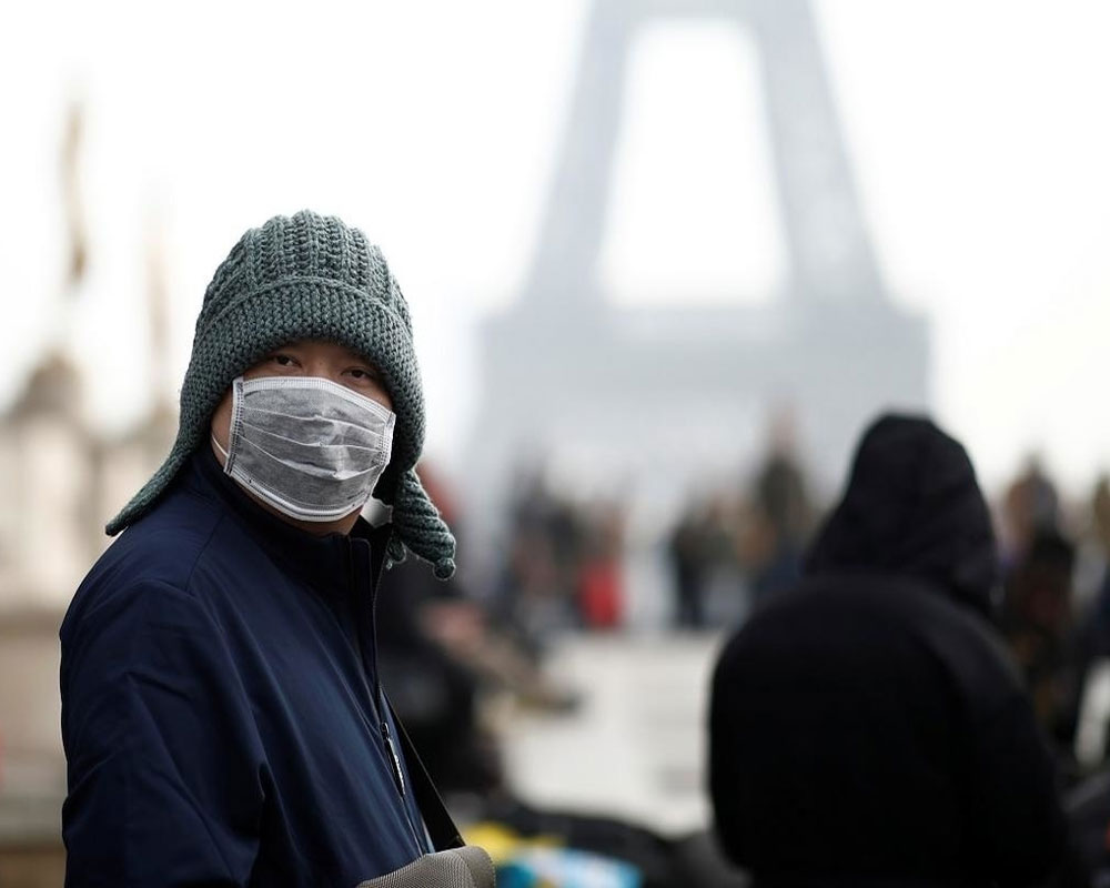 France reports lowest daily virus toll in a week, total now 8,078
