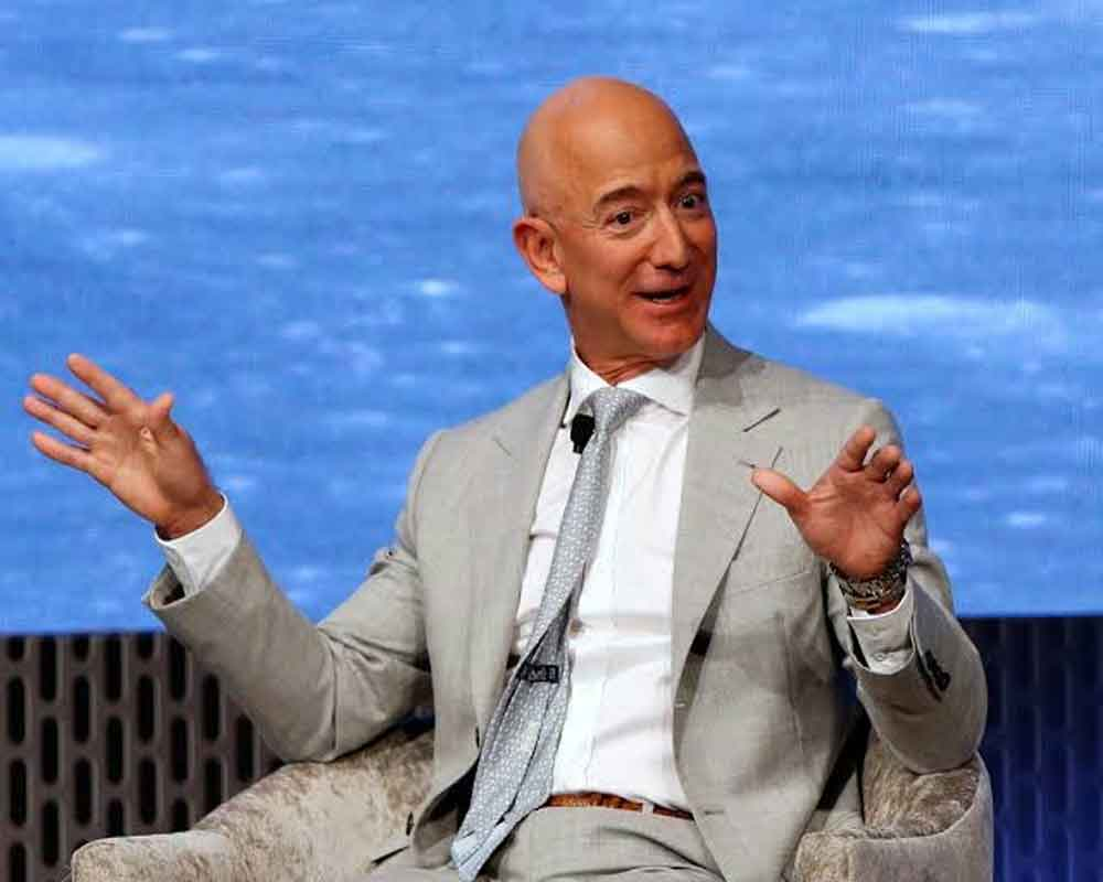 I fall in love with India every time I return here: Bezos