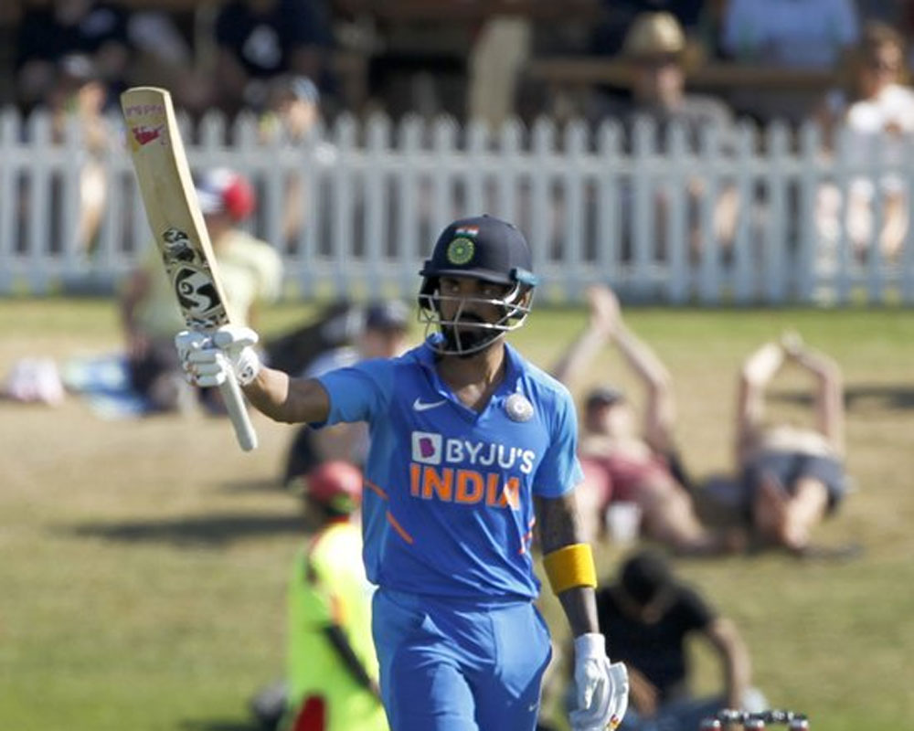 KL Rahul's career fourth century takes India to challenging 296/7 against NZ in 3rd ODI