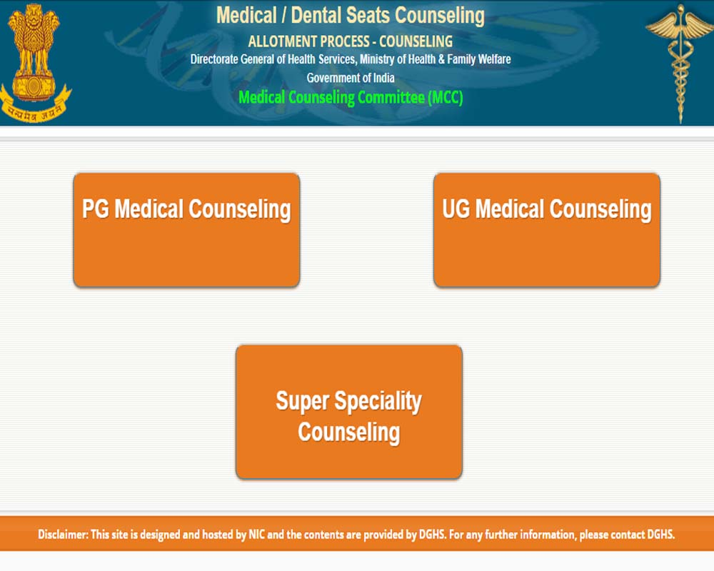 NEET Counselling Result 2020