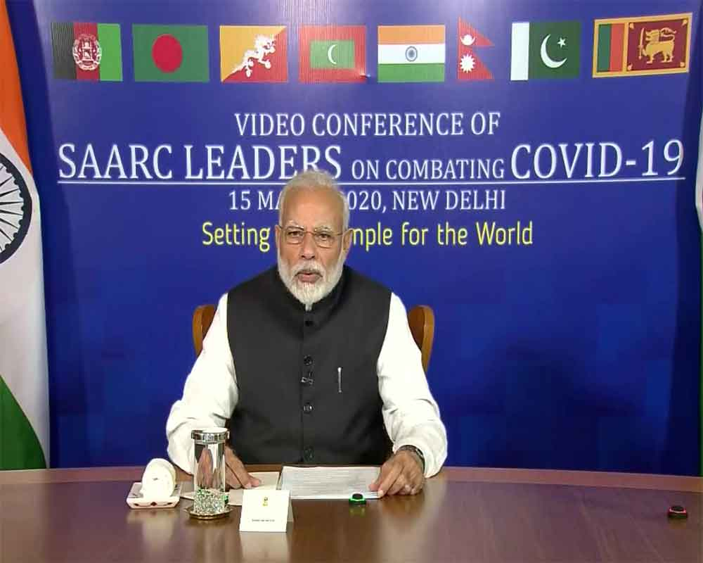 PM Modi participates in SAARC video conference to formulate joint strategy to combat coronavirus