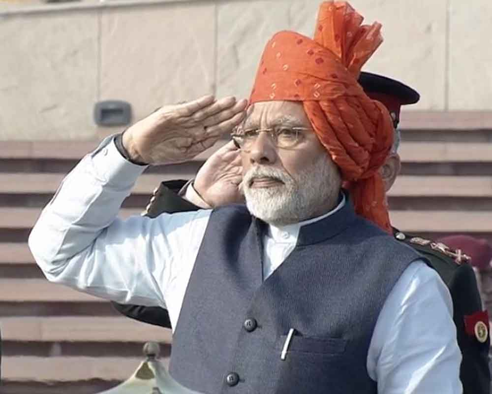 PM Modi pays homage to fallen soldiers at newly-built National War Memorial for first time
