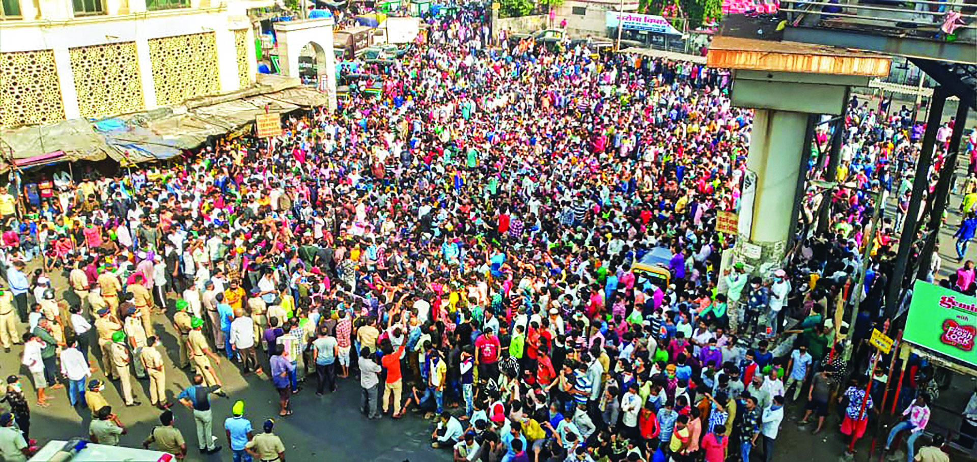 Restive migrants lose patience, stage protest