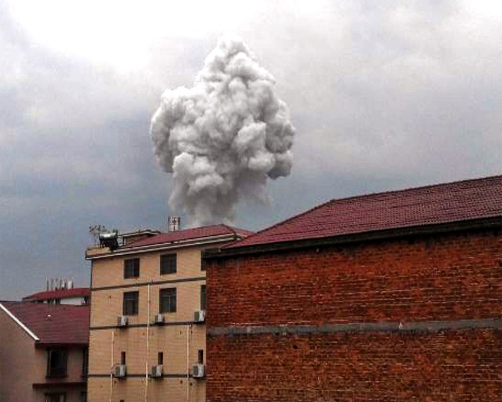 Six injured in explosion at fireworks factory in China