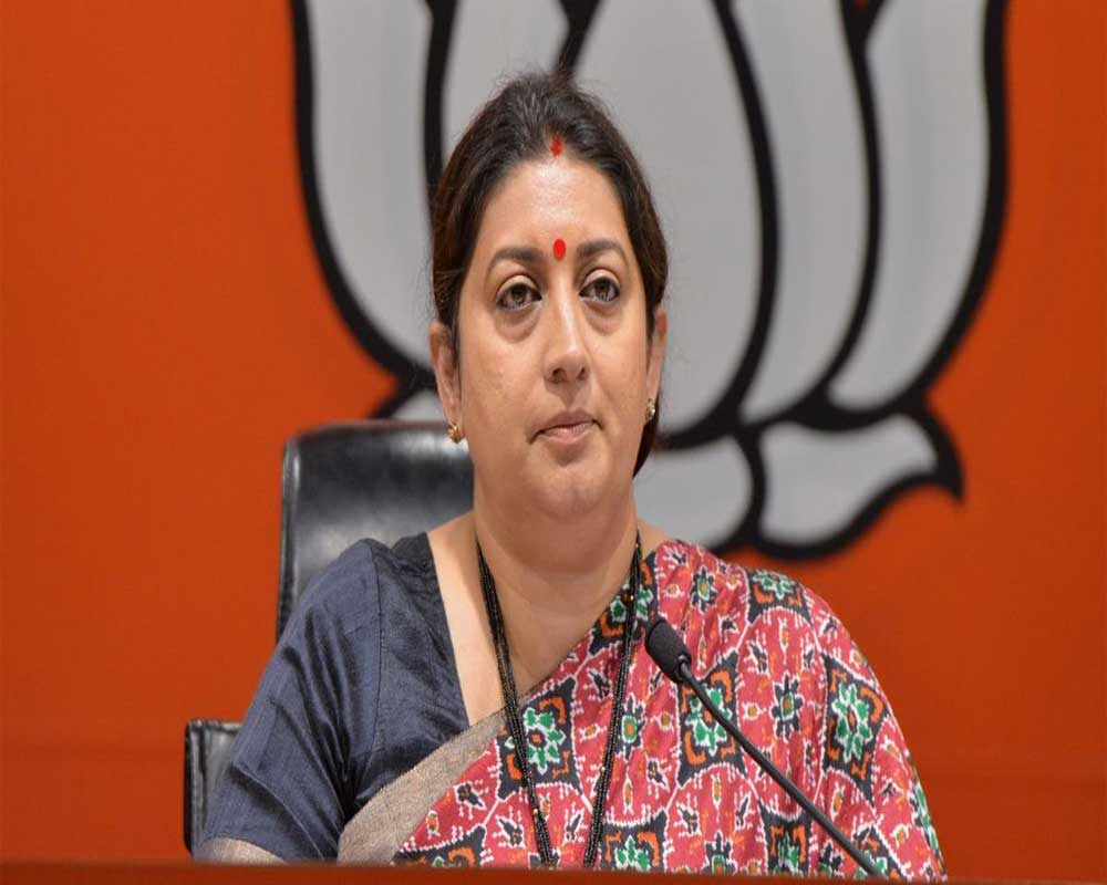 Smriti Irani blames AAP govt for 'delay' in hanging of Nirbhaya convicts