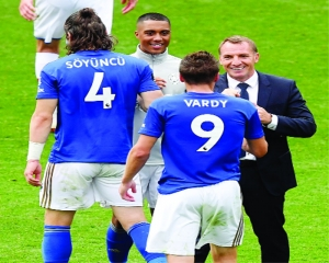 100 up for Vardy