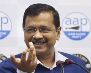 Delhi polls: Journey of next five years starts now, says Kejriwal before filing nomination