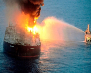 Russian oil tanker suffers explosion, 3 crew members missing
