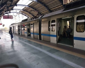 Services briefly delayed on Delhi Metro's Blue Line section due to passenger on tracks