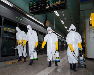 South Korea's daily virus total drops slightly