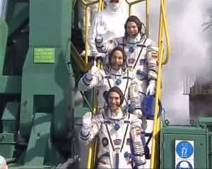 Three-man crew blasts off for ISS: NASA TV
