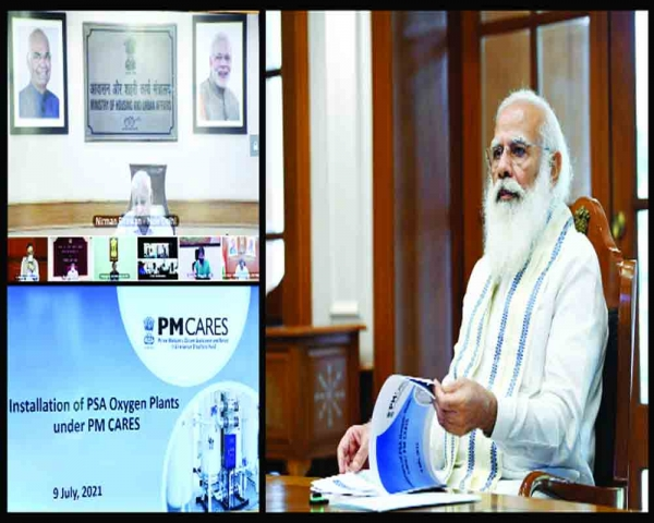 Keep O2 plants ready before 3rd wave, urges PM