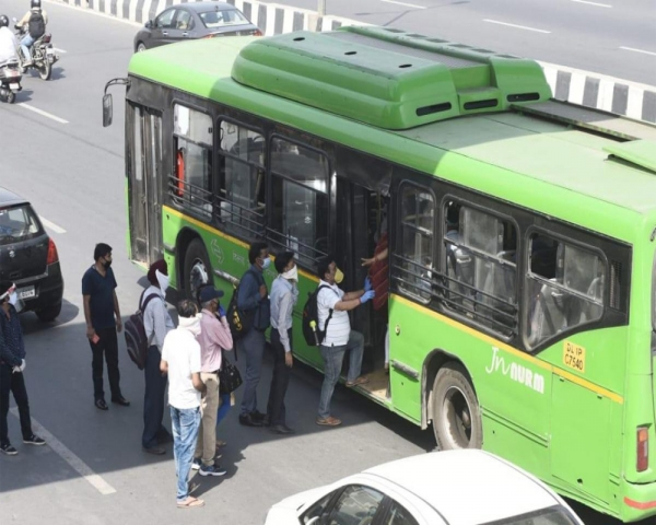 Offices, metro, bus services operate with 50-per cent capacity in Delhi