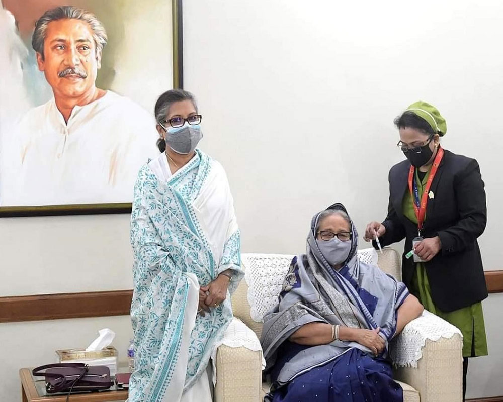 Bangladesh PM Hasina gets first dose of COVID-19 vaccine