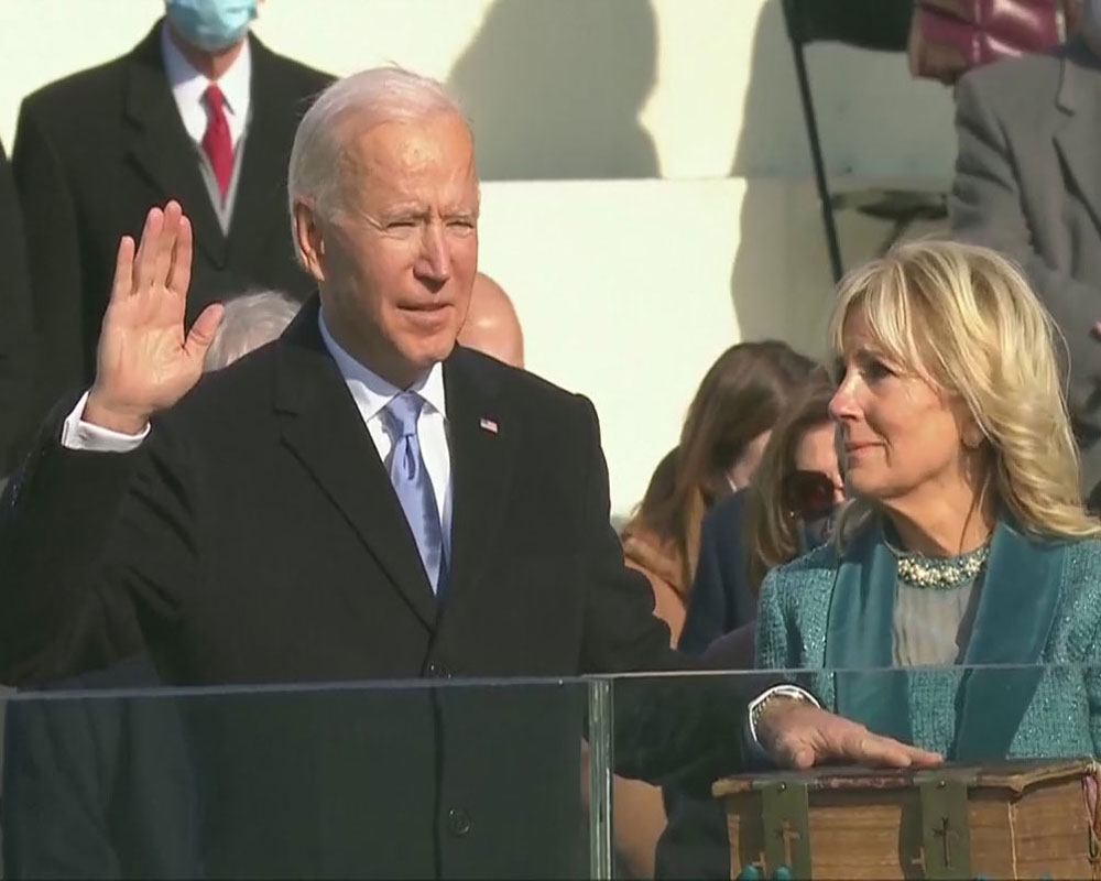 Biden takes oath as 46th US President, Harris as Vice President amidst unprecedented security