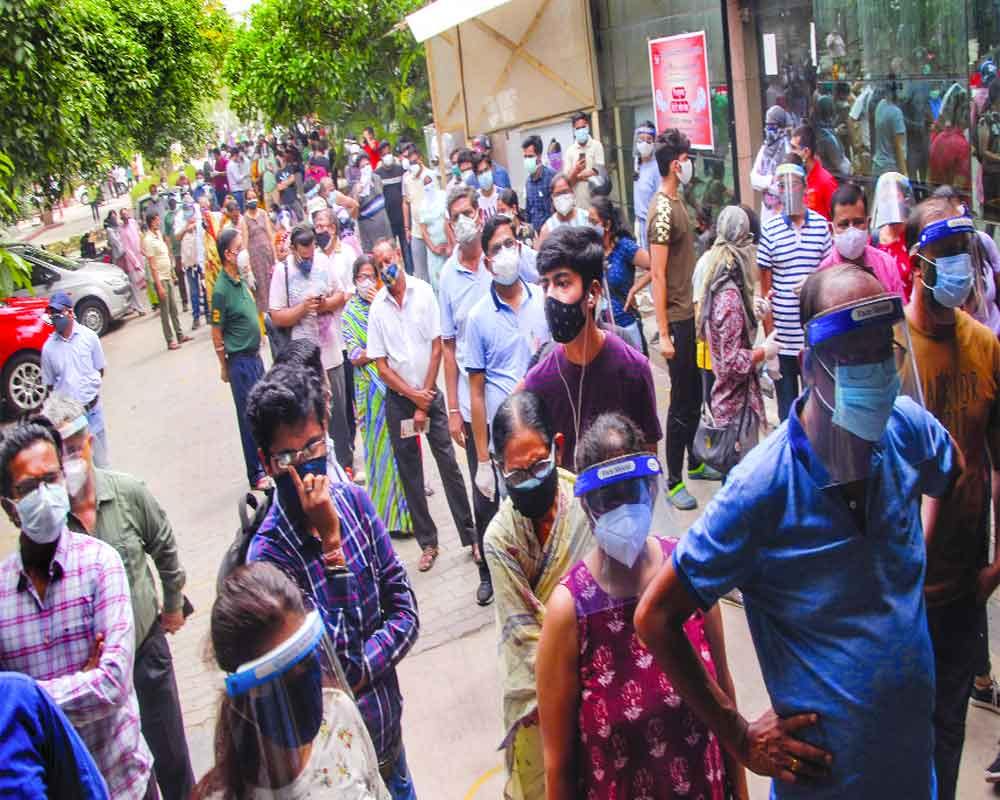 Clamour for Covid jabs in urban India