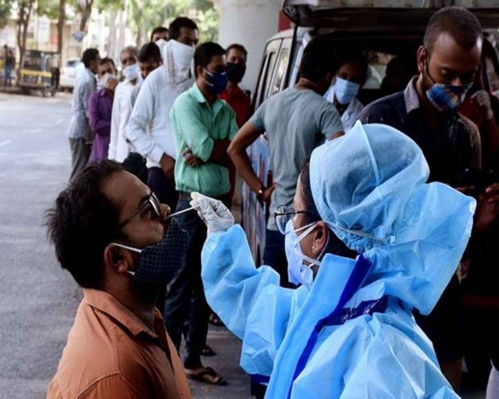 India reports 96,982 new Covid cases, 446 deaths