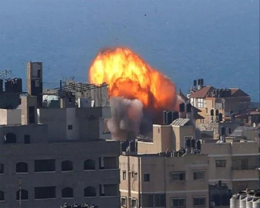 Israeli airstrikes target Gaza sites, first since cease-fire