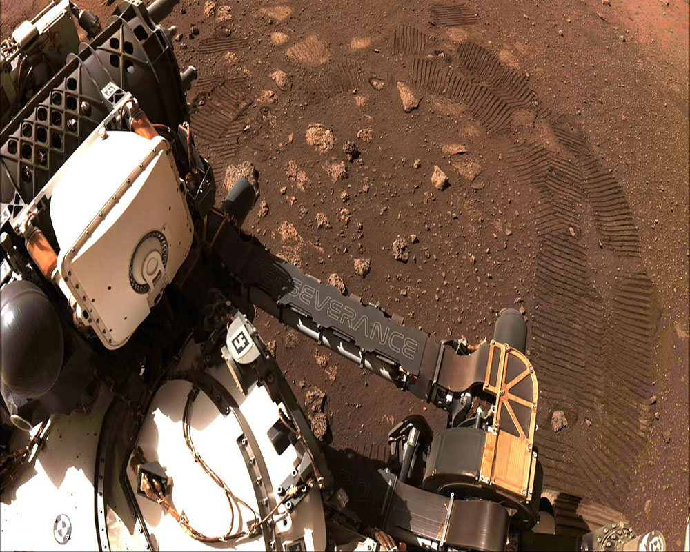 NASA's Perseverance rover performs first test drive on Mars