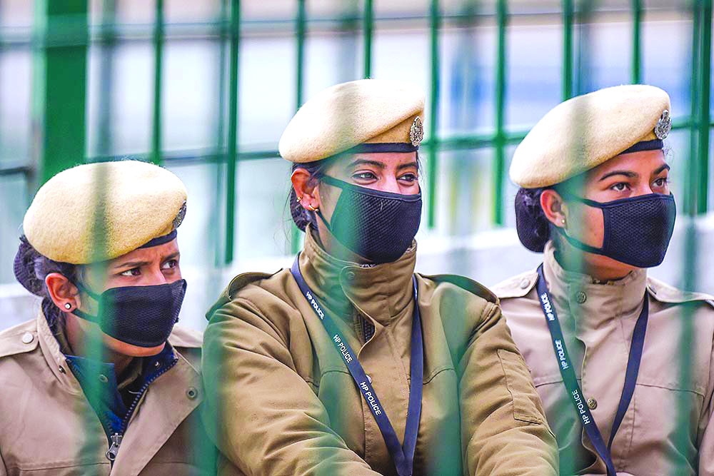 Policewomen at the frontlines