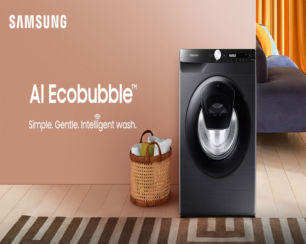 Samsung powers remote laundry care with connected washing machine