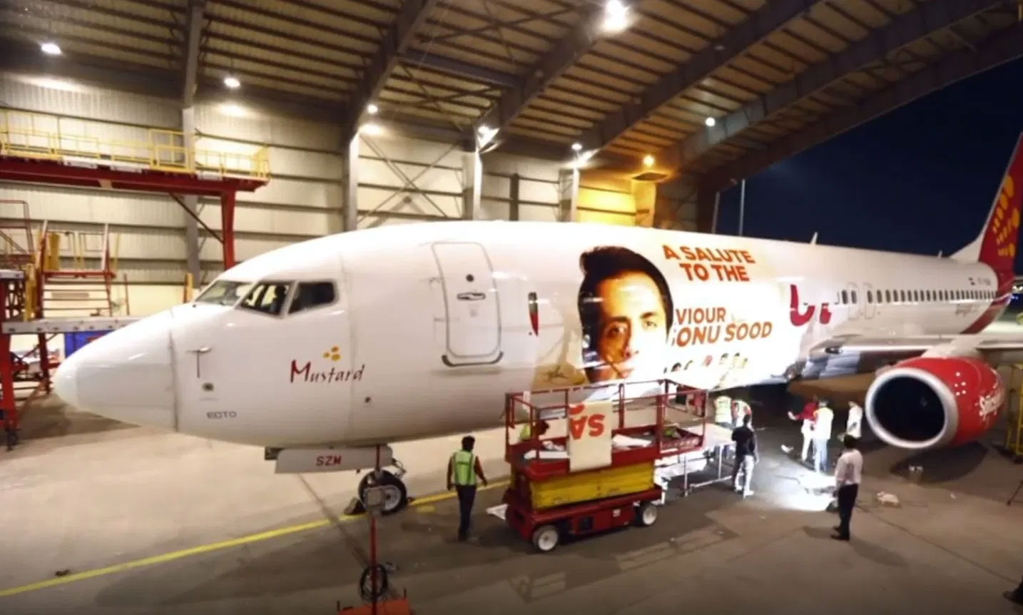 Sonu Sood gets aircraft livery: Wish my parents were here to see it