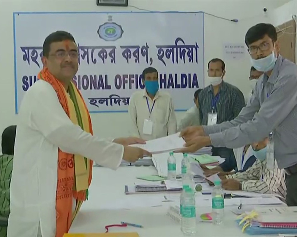 Suvendu files nomination from Nandigram in high-stakes battle against Mamata