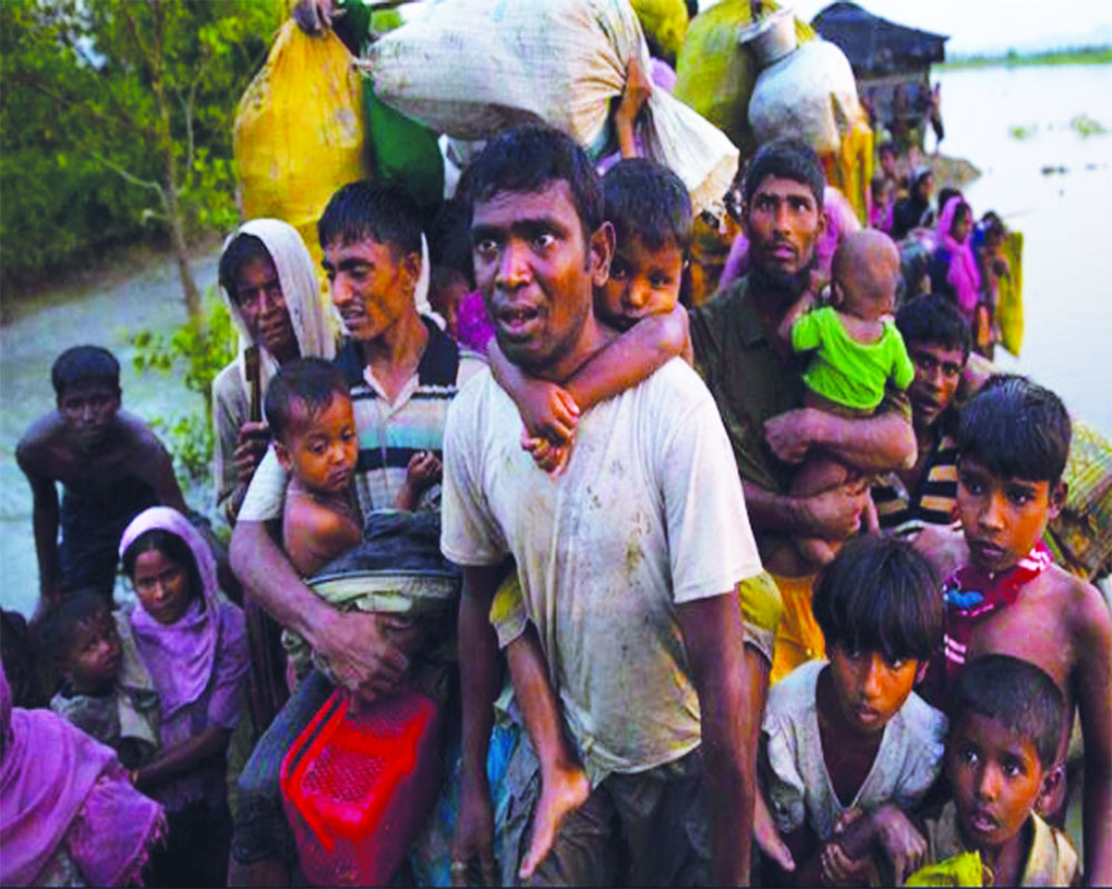 The Rohingyas must go back from India