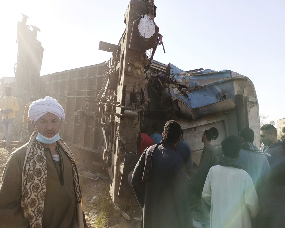 Trains crash in southern Egypt, killing at least 32