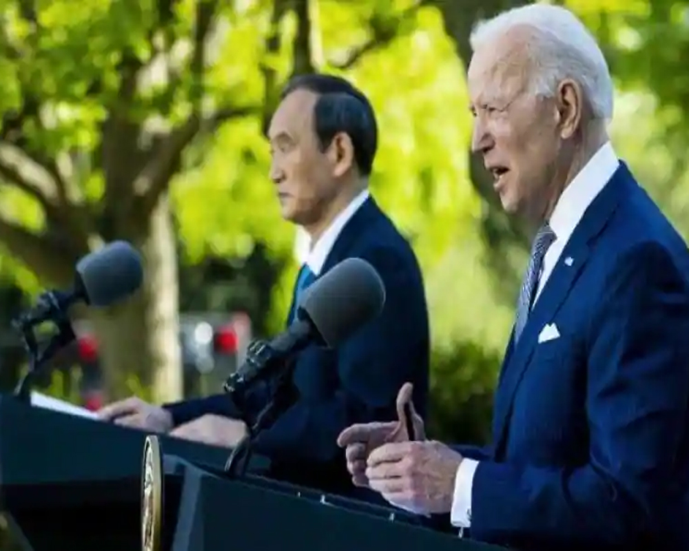 US prez Biden, Japanese PM Suga discuss Chinese influence over Indo-Pacific