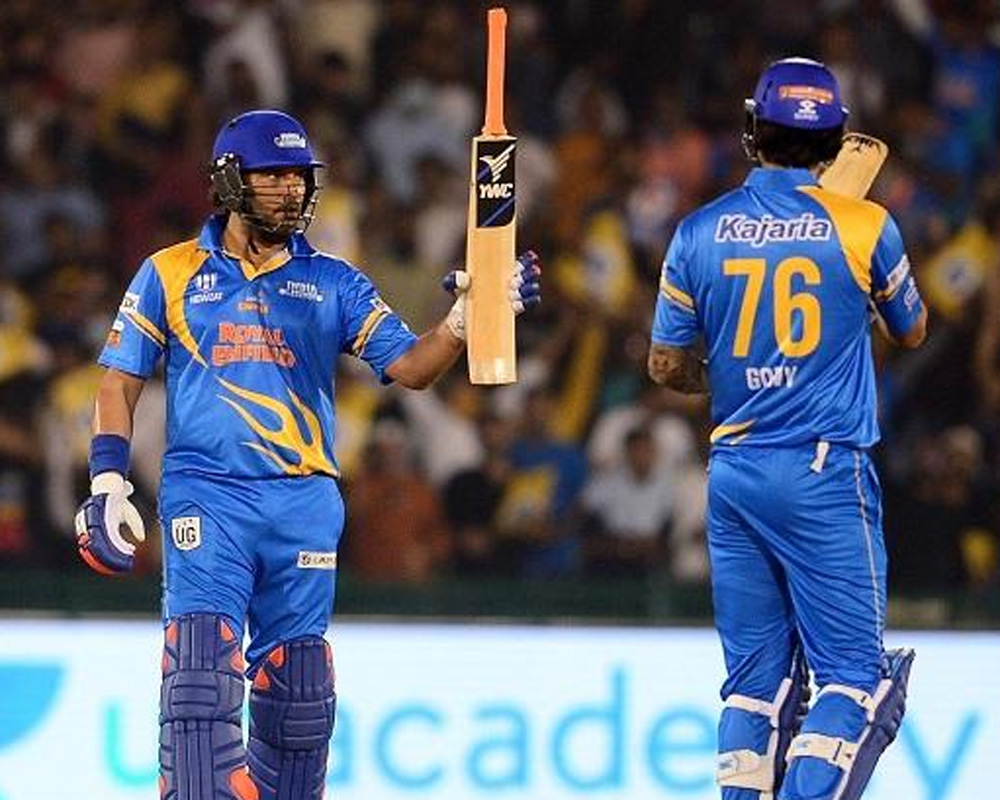 Yuvraj trends after hitting four successive sixes in 22-ball 52