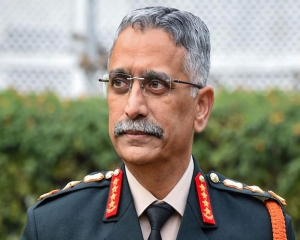 Army chief Gen Naravane interacts with officers of Bangladesh Army