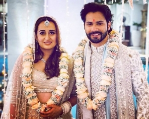 Bollywood showers love on newlyweds Varun and Natasha