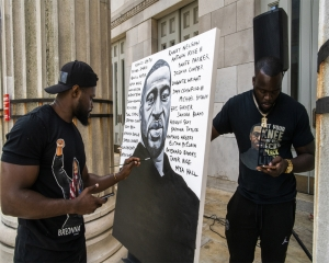 George Floyd's family holds rally, march in brother's memory