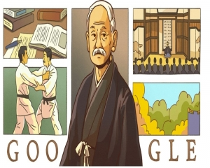 Google marks the birthday of judo's founder with doodle
