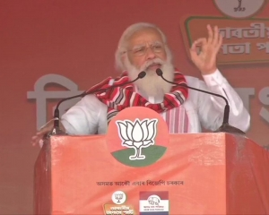 Modi attacks Cong at Assam poll rally, says NDA ensured peace and development