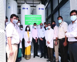Oxygen plant inaugurated at Northern Railway Central Hospital