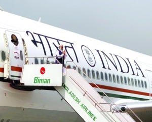 PM boards Air India One first time to fly to Dhaka