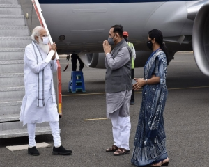 PM Modi undertakes aerial survey of cyclone-affected areas