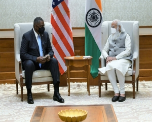 US Def Sec Austin calls on Modi; Conveys his country's strong desire to further boost Indo-US strategic ties