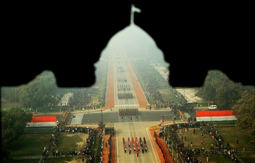 A view of the 67th Republic Day parade at Rajpath in New Delhi.PTI