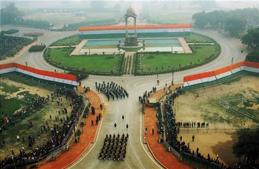 A view of the 67th Republic Day parade at Rajpath in New Delhi. PTI